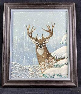 Buck In The Snow by Karl Karalus