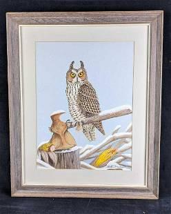 Horned Owl By Karl Karalus
