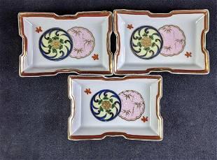 Vintage Oriental Rectangular Small Plates