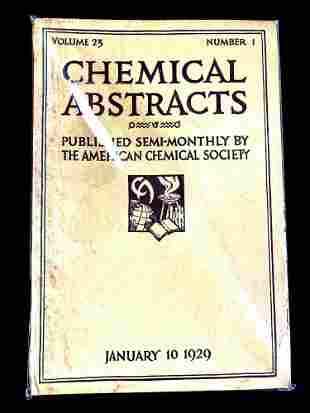 Chemical Abstracts Book January 10, 1929