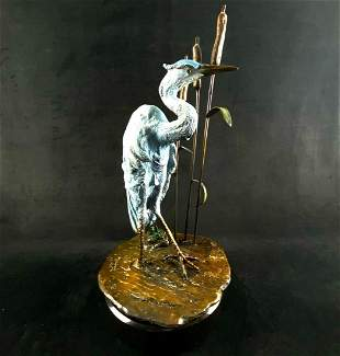 Limited Edition 15/399 Signed John Townsend Blue Heron