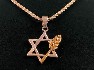Vintage Star of David Glitter Rope Chain Sterling