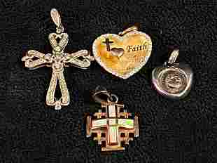 Vintage Lot Of Sterling Silver Opal - CZ Charms