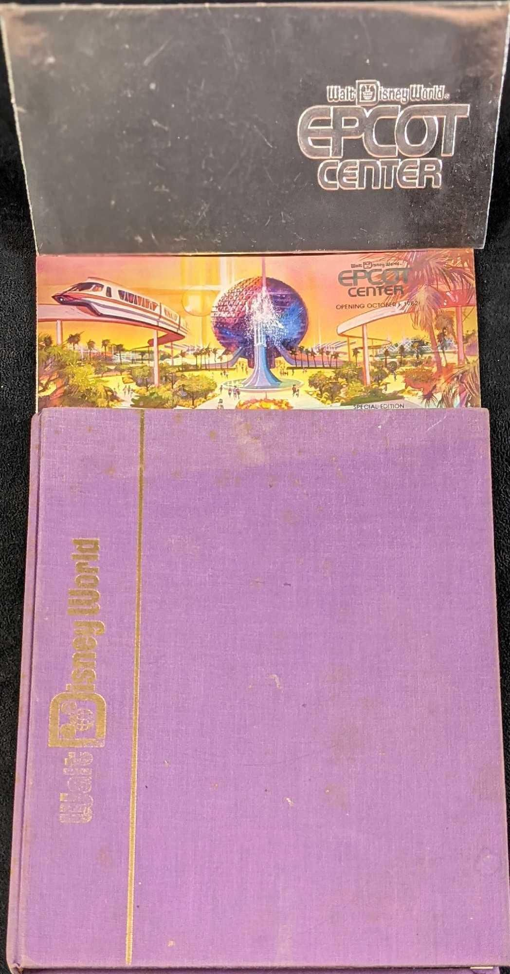 Vintage Walt Disney World History Book W EPCOT Center