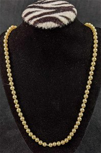Faux Pearl .925 Sterling Silver Necklace
