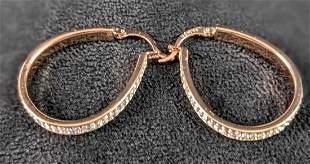 Rose Gold Plated Hoop Earrings
