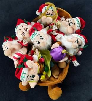 Disney Bean Bag Doll Seven Dwarfs Christmas Sleigh A