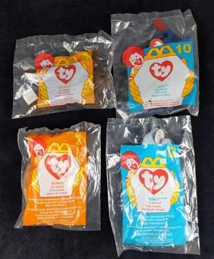 Four McDonalds Ty Teenie Beanie Babies B