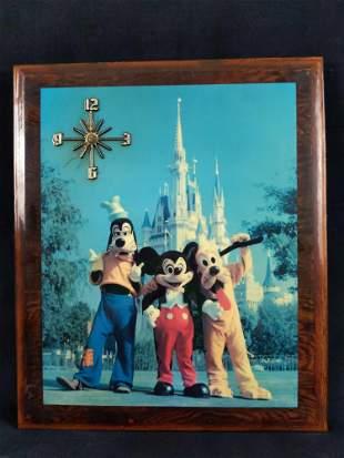 Vintage 1970s Walt Disney World Mickey Photo Clock