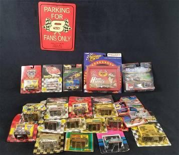20 Piece NASCAR Die Cast Cars with Race Car Sign