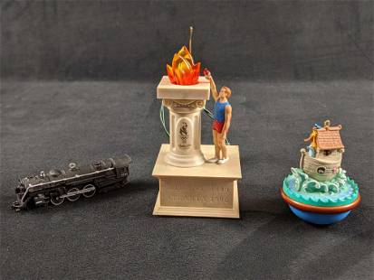 Hallmark Keepsake Ornament Train Olympic And Noahs Ark