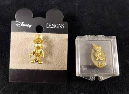 Disney Cast Exclusive 15 Year Jiminy Cricket Pins J
