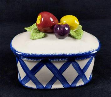 Cali Ladies Ceramic Coupon Recipe Fruit Basket