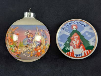 Disney 25th Anniversary And Sphinx Ornament Lot