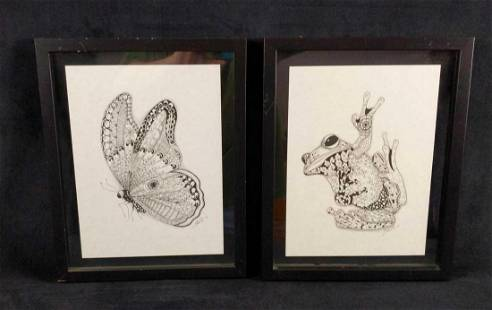 Floating Frame Faith ZentangledZoo Butterfly Toad