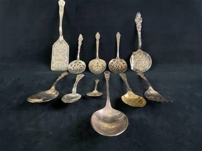 Vintage Mixed Lot Of Silver Plated Utensils
