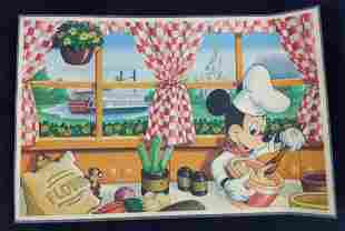 1980s Disney World Chef Mickey Mouse Placemat