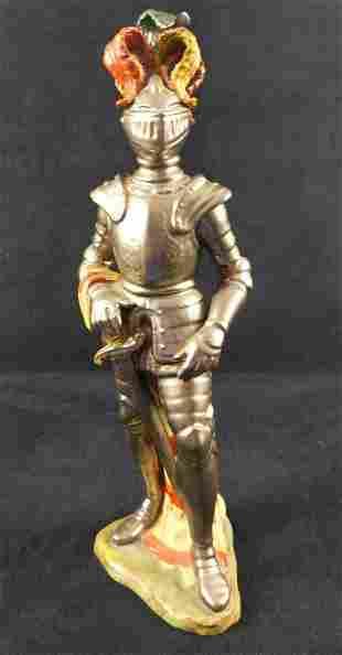 Andrea Sadek By Vintage Porcelain Medieval Knight