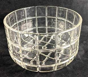 Crystal Clear Bowl Square Cut Large Bowl