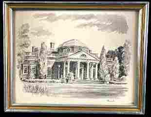 """Al Repple Print of """"Monticello"""""""
