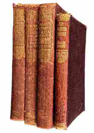 Four Antique Charles Dickens Novels