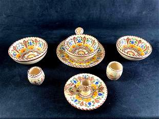 Set of (7) A.H. Puente Spanish Dishes