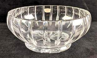Crystal Bowl Diamond Cut Footed Lead Crystal Bowl