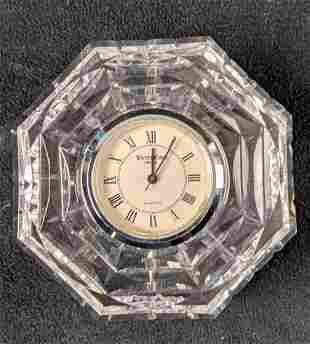 Small Waterford Crystal Octagonal Clock