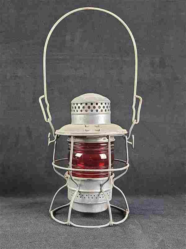 Adlake Kero Railroad Red Globe Lantern