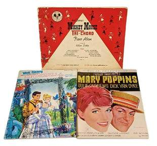 Vintage Disney Sheet Music Mary Poppins Cinderella