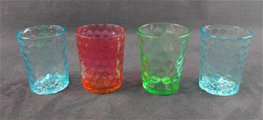 Vintage Coin Dot And Honeycomb Drinking Glasses