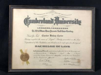 Vintage 1933 Cumberland University Legal Study