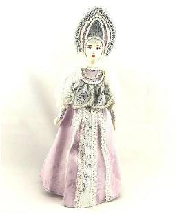 Vintage Hand Painted Ceramic Russian Russian Woman In