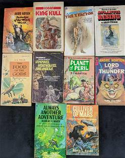 Lot Of Ten Fantasy And Sci Fi Softcover Books