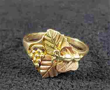 10K Gold Ring with Butterfly Size 4.5