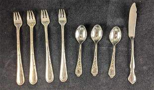 Silver Plated Cocktail Forks and Spoons
