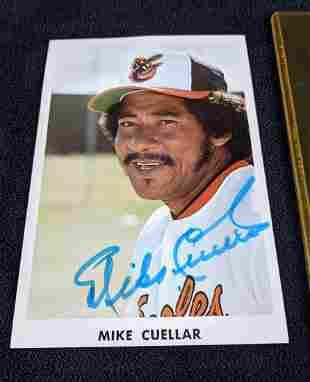 Baseball Mike Cuellar Signed Image Orioles