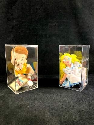 Set of (2) Disney Plush Bean Bag Dolls