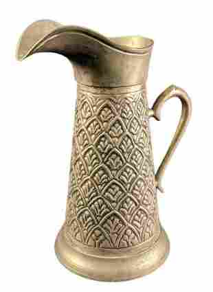 """Vintage Silver Plated 10"""" Water Pitcher"""