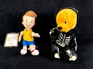 Set of (2) Disney Plush Bean Bag Dolls Christopher