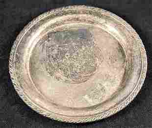 Burnetts White Satin Gin Silver Plate Serving Tray