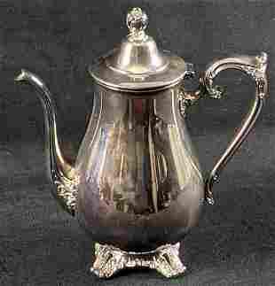 Vintage VM Rogers Silver Plate Tea Coffee Pot