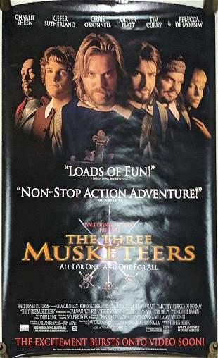 Original Video Store Three Musketeers Movie Poster