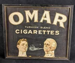 Vintage Cigarette Sign Omar Turkish Blend