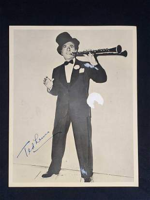 Signed Publicity Photo Of Musician Ted Lewis
