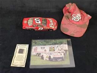 NASCAR Signed Dale Earnhardt Jr Photo Hat Car and