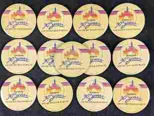 13 Vintage Disneyland 30th Anniversary Buttons