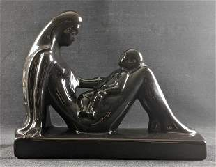 Royal Haeger Mother and Child Ceramic Statue