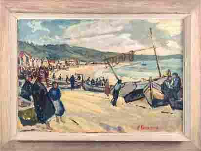 Harold Rotenberg Framed Original Oil On Wood X1