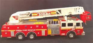 Funrise Tonka Fire Rescue Truck 36 Tower Ladder Model